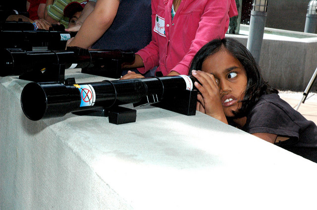 Image: Girl with Galileoscope